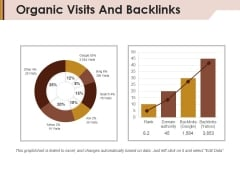 Organic Visits And Backlinks Ppt PowerPoint Presentation Layouts Graphics