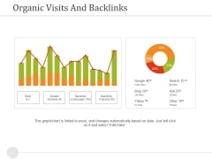 Organic Visits And Backlinks Ppt PowerPoint Presentation Professional File Formats