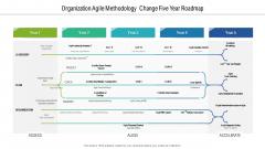 Organization Agile Methodology Change Five Year Roadmap Slides