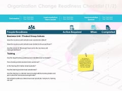 Organization Change Readiness Checklist Ppt PowerPoint Presentation Infographics Background Image