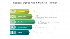 Organization Employee Points Of Strength With Team Player Ppt PowerPoint Presentation File Background Designs PDF