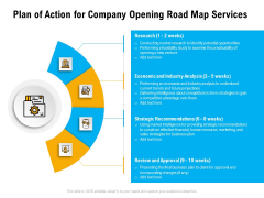 Organization Inception Timeline Proposal Plan Of Action For Company Opening Road Map Services Guidelines PDF