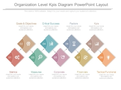 Organization Level Kpis Diagram Powerpoint Layout