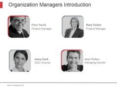 Organization Managers Introduction Ppt PowerPoint Presentation Examples