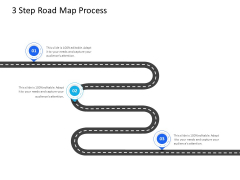 Organization Manpower Management Technology 3 Step Road Map Process Ppt Model Outfit PDF