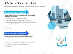 Organization Manpower Management Technology HCM Technology Focus Area Elements PDF