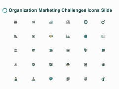 Organization Marketing Challenges Icons Slide Ppt PowerPoint Presentation Gallery Portrait
