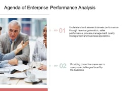 Organization Performance Evaluation Agenda Of Enterprise Performance Analysis Professional PDF