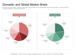 Organization Performance Evaluation Domestic And Global Market Share Portrait PDF