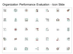 Organization Performance Evaluation Icon Slide Download PDF