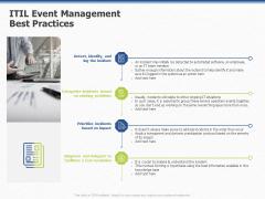 Organization Strategic Plan ITIL Event Management Best Practices Ppt PowerPoint Presentation Styles Good PDF