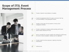 Organization Strategic Plan Scope Of ITIL Event Management Process Ppt PowerPoint Presentation Pictures Portrait PDF