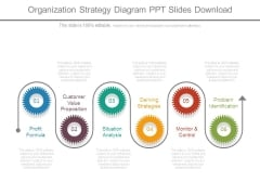 Organization Strategy Diagram Ppt Slides Download