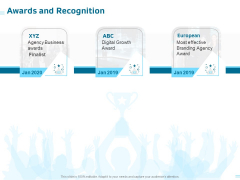 Organization Trademark Design Proposal Awards And Recognition Summary PDF