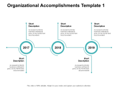 Organizational Accomplishments 2017 To 2019 Ppt PowerPoint Presentation Inspiration Images