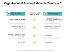 Organizational Accomplishments Achievements Ppt PowerPoint Presentation Show Infographic Template