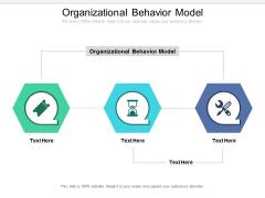 Organizational Behavior Model Ppt PowerPoint Presentation Model Show Cpb Pdf