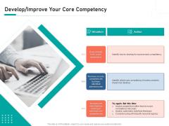 Organizational Building Blocks Develop Improve Your Core Competency Ppt PowerPoint Presentation Show Template PDF