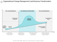 Organizational Change Management Lead Business Transformation Ppt PowerPoint Presentation Layouts Demonstration