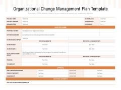 Organizational Change Management Plan Template Ppt PowerPoint Presentation Gallery Deck PDF