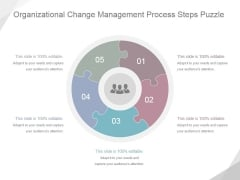 Organizational Change Management Process Steps Puzzle Ppt PowerPoint Presentation Picture