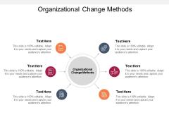Organizational Change Methods Ppt PowerPoint Presentation Model Sample Cpb Pdf
