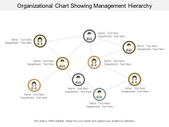 Organizational Chart Showing Management Hierarchy Ppt PowerPoint Presentation Visual Aids Infographics