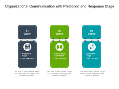 Organizational Communication With Prediction And Response Stage Ppt PowerPoint Presentation File Slide Download PDF