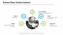 Organizational Culture Business Values Towards Customers Ppt Inspiration Graphics Download PDF