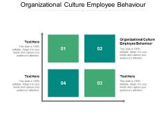 Organizational Culture Employee Behaviour Ppt PowerPoint Presentation File Inspiration Cpb