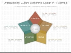 Organizational Culture Leadership Design Ppt Example