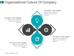 Organizational Culture Of Company Ppt PowerPoint Presentation Designs Download