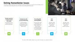 Organizational Culture Solving Humanitarian Issues Ppt Professional Slide Portrait PDF