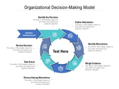 Organizational Decision Making Model Ppt PowerPoint Presentation Infographic Template Slideshow