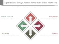 Organizational Design Factors Powerpoint Slides Influencers