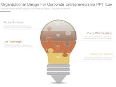 Organizational Design For Corporate Entrepreneurship Ppt Icon