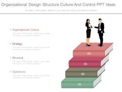 Organizational Design Structure Culture And Control Ppt Ideas
