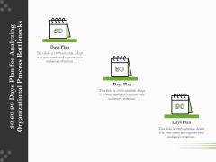 Organizational Development 30 60 90 Days Plan For Analyzing Organizational Process Bottlenecks Template PDF