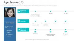 Organizational Development And Promotional Plan Buyer Persona Demographic Mockup PDF