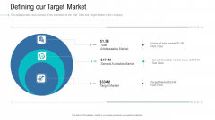 Organizational Development And Promotional Plan Defining Our Target Market Template PDF