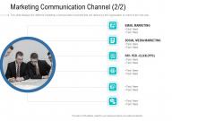 Organizational Development And Promotional Plan Marketing Communication Channel Summary PDF