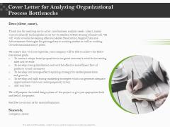 Organizational Development Cover Letter For Analyzing Organizational Process Bottlenecks Structure PDF