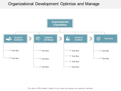 Organizational Development Optimize And Manage Ppt Powerpoint Presentation Infographic Template Inspiration