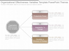Organizational Effectiveness Variables Template Powerpoint Themes
