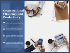 Organizational Efficiency And Productivity Ppt PowerPoint Presentation File Inspiration