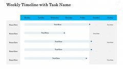 Organizational Event Management Weekly Timeline With Task Name Infographics PDF