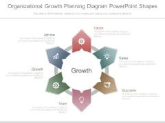 Organizational Growth Planning Diagram Powerpoint Shapes