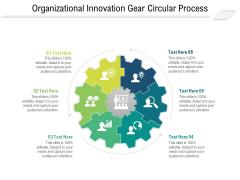 Organizational Innovation Gear Circular Process Ppt PowerPoint Presentation File Model PDF