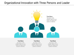 Organizational Innovation With Three Persons And Leader Ppt PowerPoint Presentation File Inspiration PDF