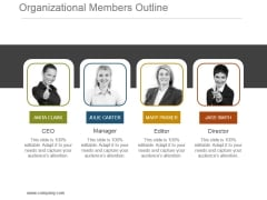 Organizational Members Outline Powerpoint Presentation Examples